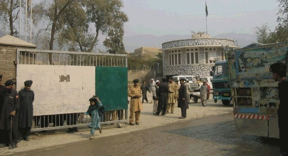 Torkham border crossing, located on the Durrand Line border between Nangarhar province of Afghanistan and the NWFP province of Pakistan