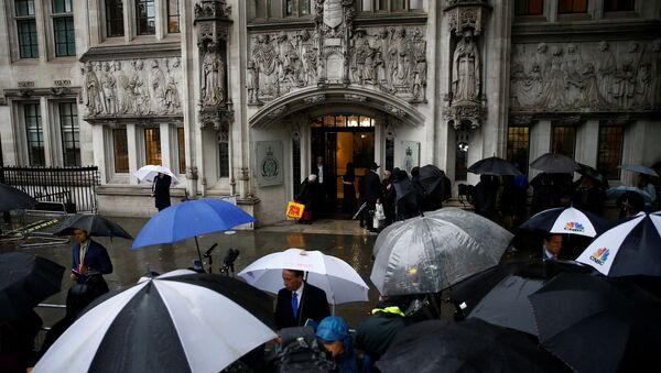 A general view outside the Supreme Court of the United Kingdom hearing on British Prime Minister Boris Johnson's decision to prorogue parliament ahead of Brexit, in London, Britain September 24, 2019 - Sputnik International