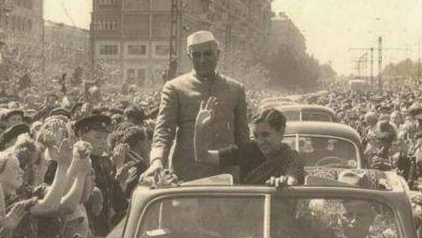 Nehru & India Gandhi in the US in 1954 - Sputnik International