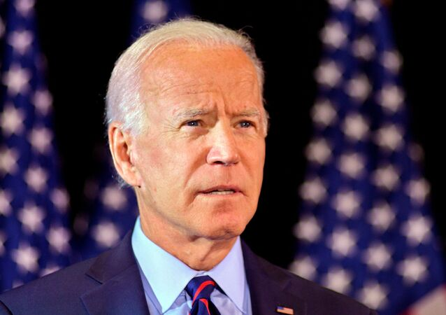 Joe Biden makes a statement on the whistleblower report in Wilmington, Delaware