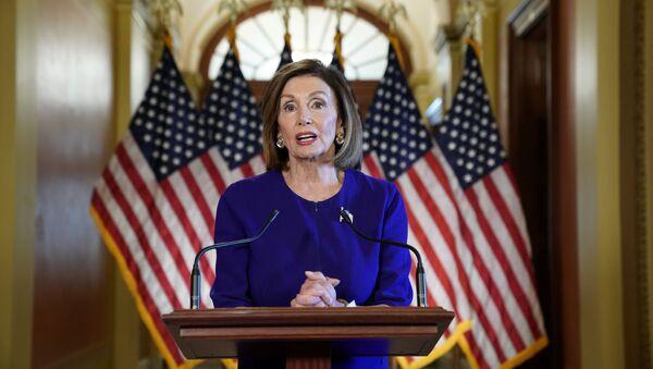 House Speaker Nancy Pelosi announces Trump impeachment inquiry at the U.S. Capitol in Washington - Sputnik International