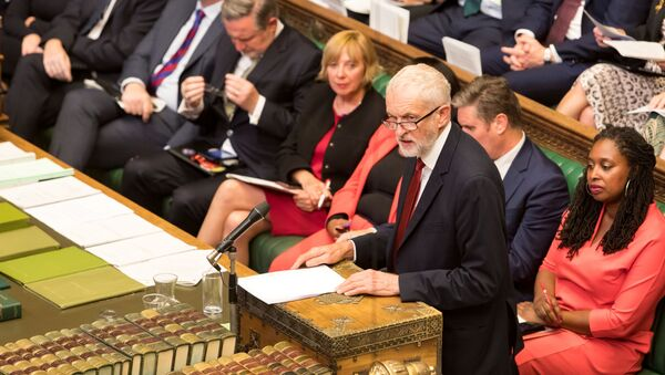 Britain's Labour Party leader Jeremy Corbyn speaks at the House of Commons in London, Britain September 3, 2019 - Sputnik International