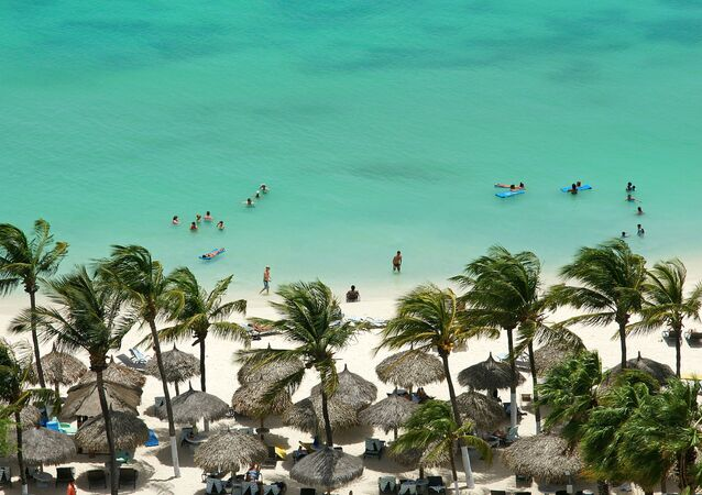 The Aruba island in the Dutch Carribean