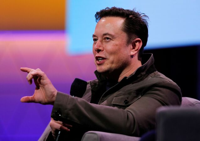 FILE PHOTO: SpaceX owner and Tesla CEO Elon Musk gestures during a conversation with legendary game designer Todd Howard (not pictured) at the E3 gaming convention in Los Angeles, California, U.S., June 13, 2019