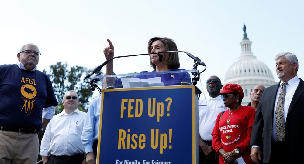 Speaker of the House Nancy Pelosi (D-CA) speaks during an American Federation of Government Employees labor union rally at the U.S. Capitol in Washington, U.S., September 24, 2019.