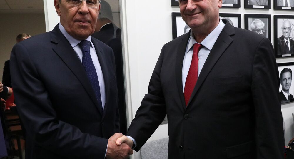 The 74th UNGA. Russian Foreign MInister Sergey Lavrov meets with Israeli counterpart Israel Katz.