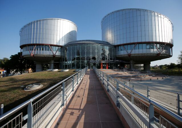 The building of the European Court of Human Rights is seen ahead of the start of a hearing concerning Ukraine's lawsuit against Russia regarding human rights violations in Crimea, at  in Strasbourg, France, September 11, 2019