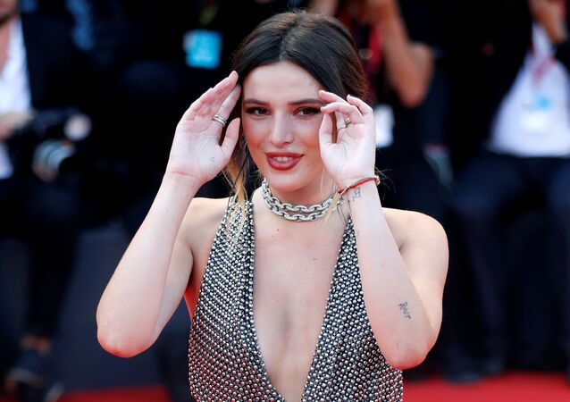 The 76th Venice Film Festival - Screening of the film Joker in competition - Red Carpet Arrivals- Venice, Italy, August 31, 2019 - Bella Thorne poses