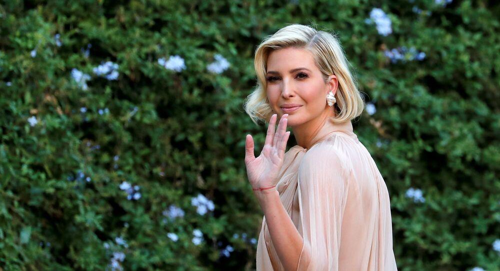 Ivanka Trump arrives to attend the wedding of fashion designer Misha Nonoo at Villa Aurelia in Rome, Italy, 20 September 2019