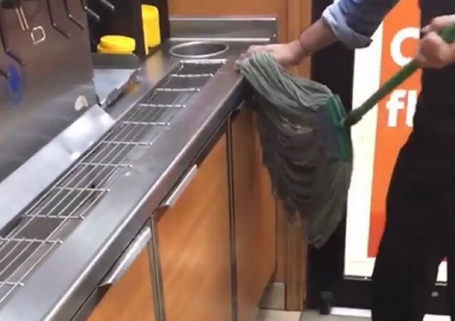 Chicago Subway restaurant shut down after video of worker using mop to wipe counters is released