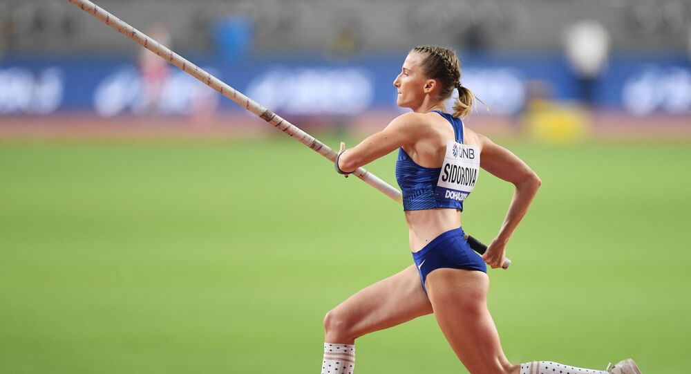 Anzhelika Sidorova cleared every height up to 4.9 meters in her first attempts, while her final leap beat competitors as she soared over the bar at just over 4.95 meters