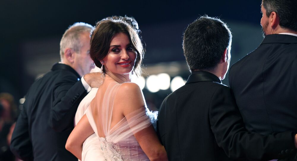 Actress Penelope Cruz on the red carpet before the premiere of Wasp Network during the 76th International Film Festival in Venice.