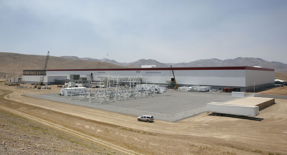 The new Tesla gigafactory in the Nevada desert that could almost double the world's production of lithium-ion batteries by 2018.