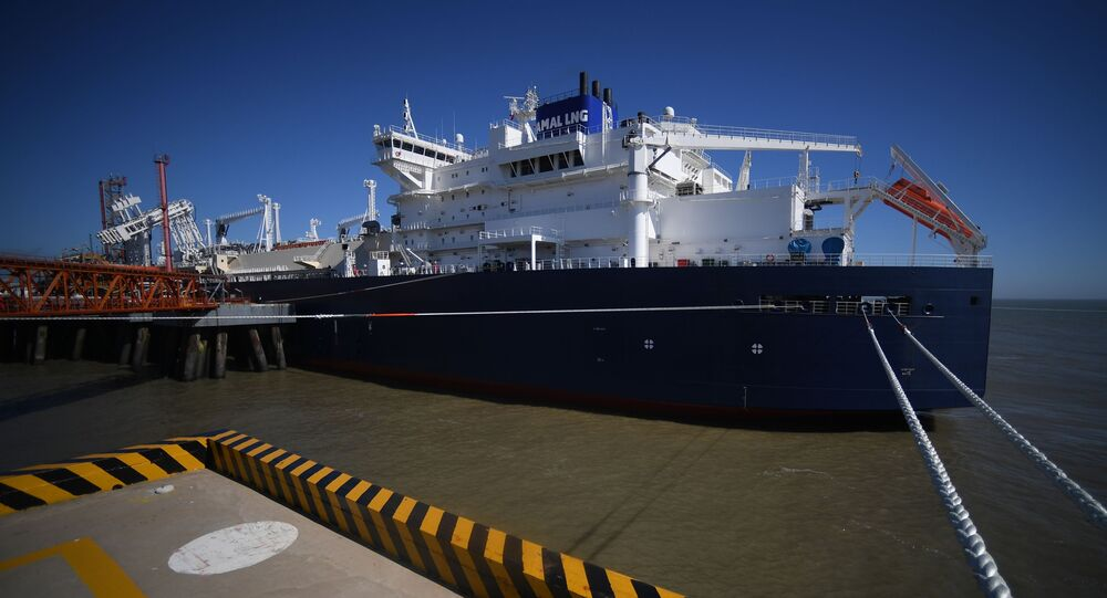 The Vladimir Rusanov LNG carrier of the Arc7 class of the Yamal LNG project