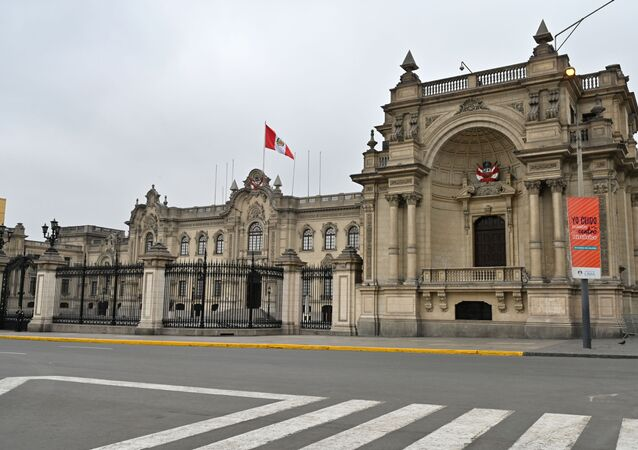 View of the Government Palace in Lima, on October 1, 2019, a day after Peruvian President Martin Vizcarra dissolved the parliament
