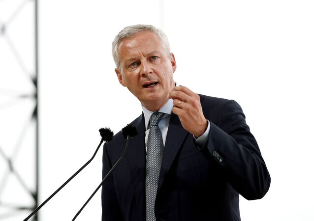 French Finance Minister Bruno Le Maire delivers a speech at the MEDEF union summer forum renamed La Rencontre des Entrepreneurs de France, LaREF, at the Paris Longchamp Racecourse in Paris, France, August 28, 2019