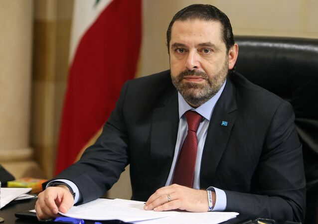 Lebanese Prime Minister Saad al-HarirI is seen during the meeting to discuss a draft policy statement at the governmental palace in Beirut, Lebanon February 6, 2019