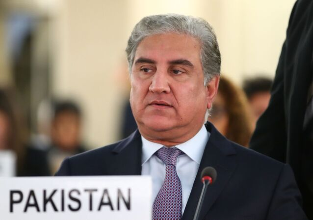 Pakistan foreign minister Shah Mehmood Qureshi arrives to address the United Nations Human Rights Council in Geneva, Switzerland, September 10, 2019