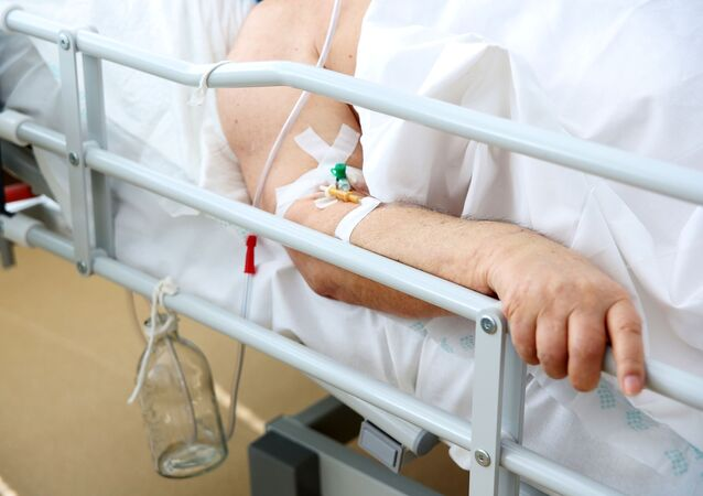 A patient in a hospital