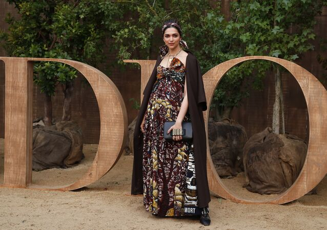 Deepika Padukone poses during a photocall before Dior's Ready To Wear Spring-Summer 2020 collection, unveiled during the fashion week, in Paris, Tuesday, Sept. 24, 2019