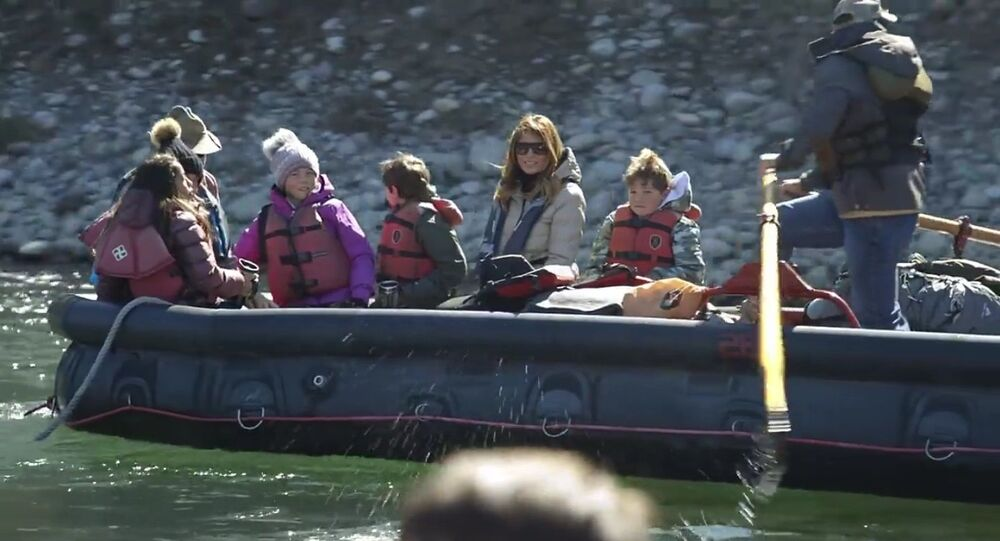 First Lady Melania Trump in Wyoming …