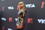 Taylor Swift arrives at the MTV Video Music Awards at the Prudential Center on Monday, Aug. 26, 2019, in Newark, N.J.