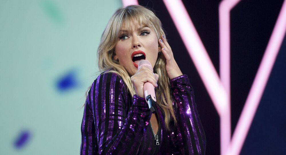 Singer Taylor Swift performs at Amazon Music's Prime Day concert at the Hammerstein Ballroom on Wednesday, July 10, 2019, in New York