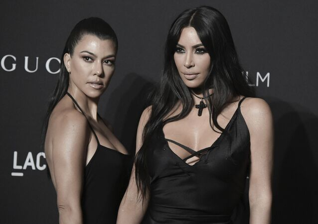 Kourtney Kardashian, left, and Kim Kardashian attend the 2018 LACMA Art+Film Gala at Los Angeles County Museum of Art on Saturday, Nov. 3, 2018, in Los Angeles