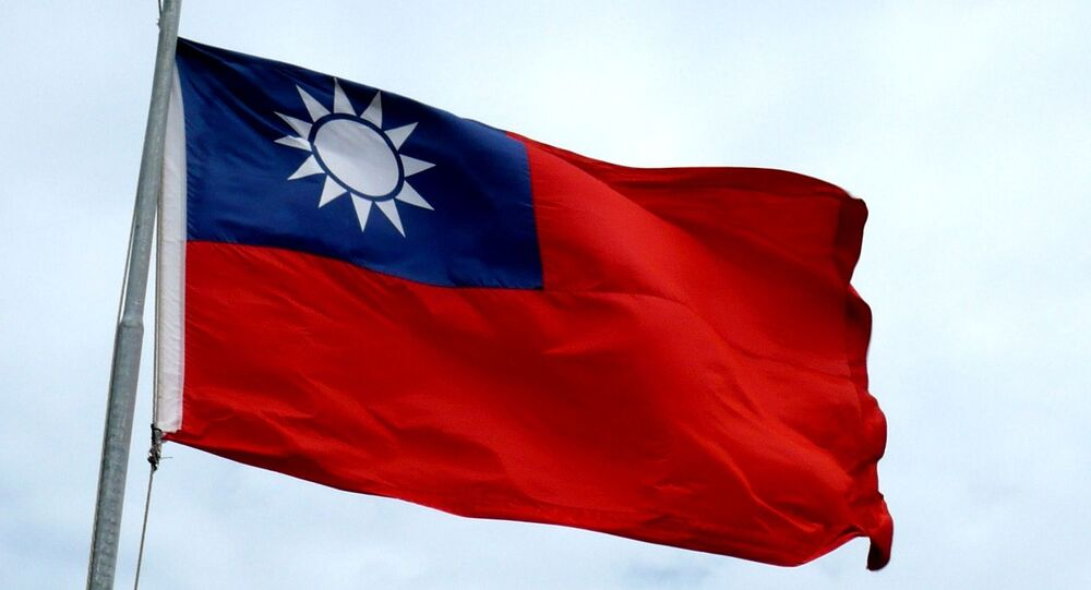 Flying flag of the Republic of China