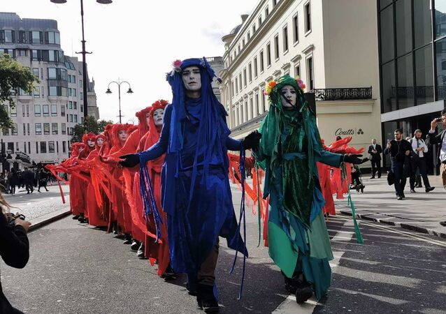 Extinction rebellion demonstrators in London