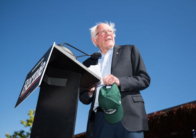 Democratic presidential candidate, Sen. Bernie Sanders (I-VT) speaks at a campaign event at Plymouth State University on September 29, 2019 in Plymouth, New Hampshire