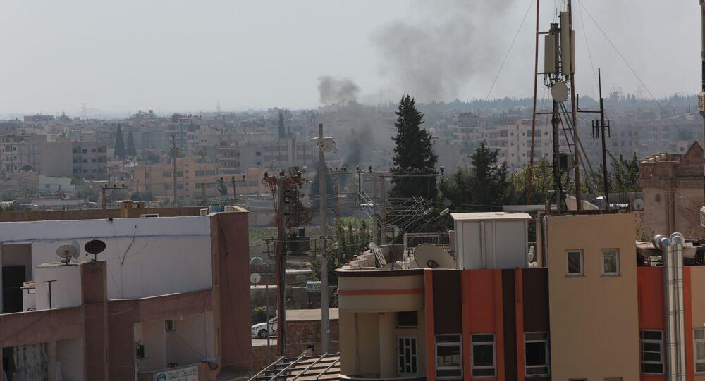 Syria's Qamishli during Turkish military operation