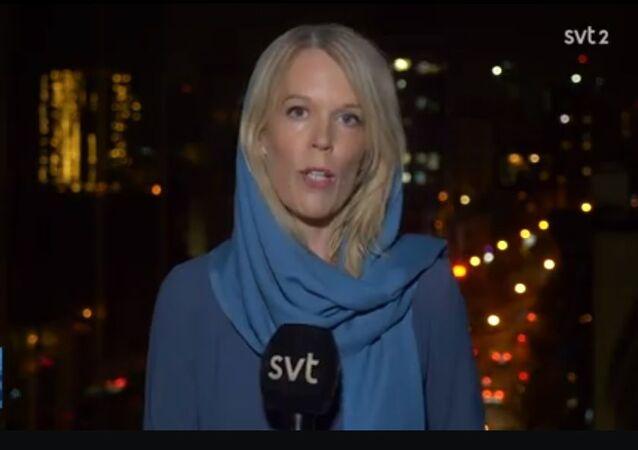 Screenshot from SVT's Aktuellt programme