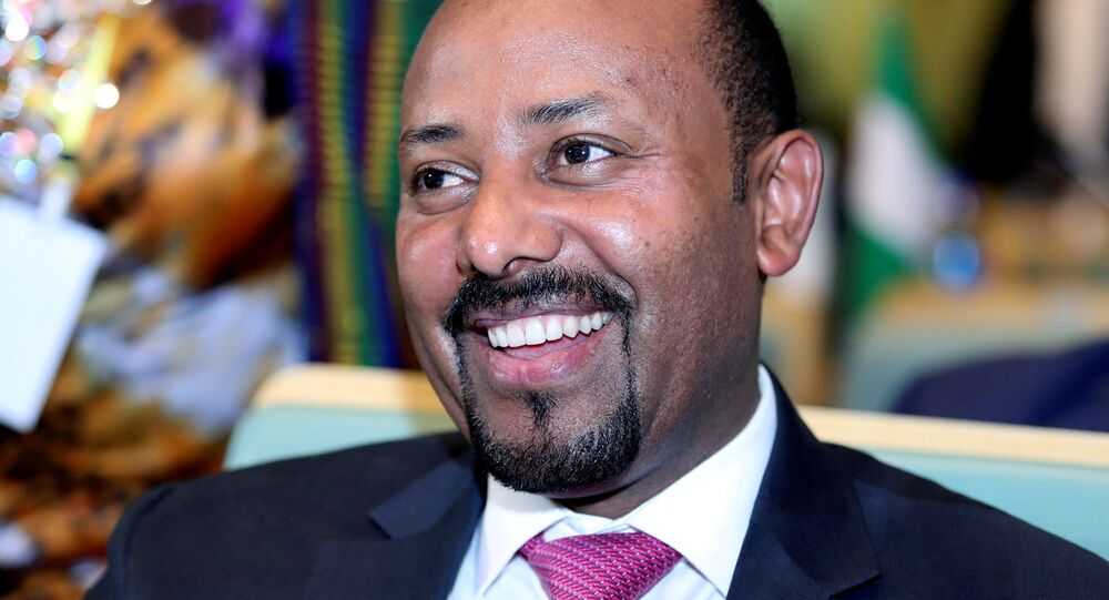 Ethiopian Prime Minister Abiy Ahmed attends the High Level Consultation Meetings of Heads of State and Government on the situation in the Democratic Republic of Congo at the African Union Headquarters in Addis Ababa, Ethiopia January 17, 2019