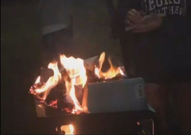 "Students at Georgia Southern University burn copies of Jennine Capó Crucet's ""Make Your Home Among Strangers"""