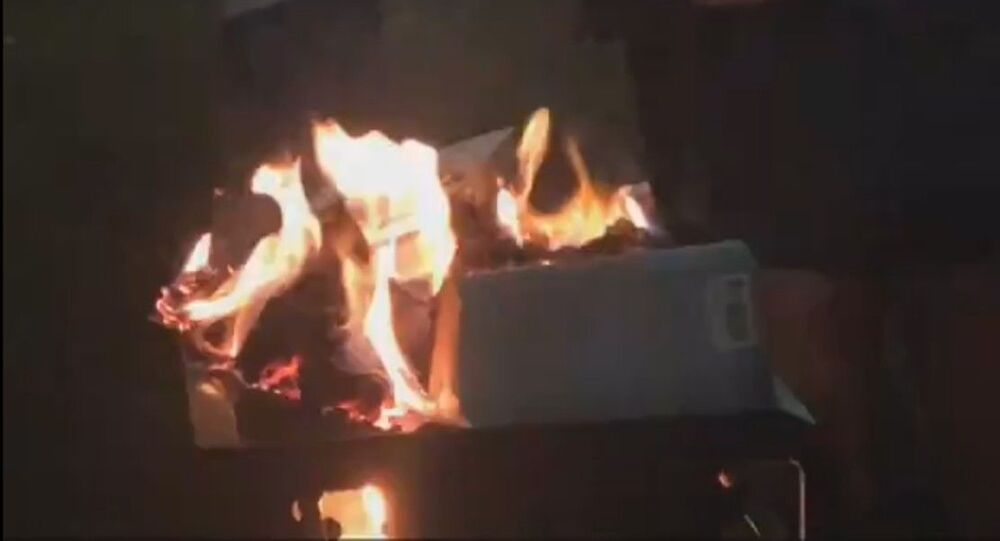 """Students at Georgia Southern University burn copies of Jennine Capó Crucet's """"Make Your Home Among Strangers"""""""
