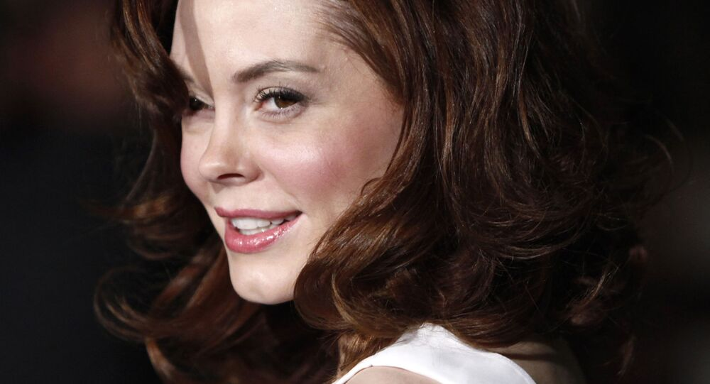 Rose McGowan arrives at the Prada Book launch in Beverly Hills