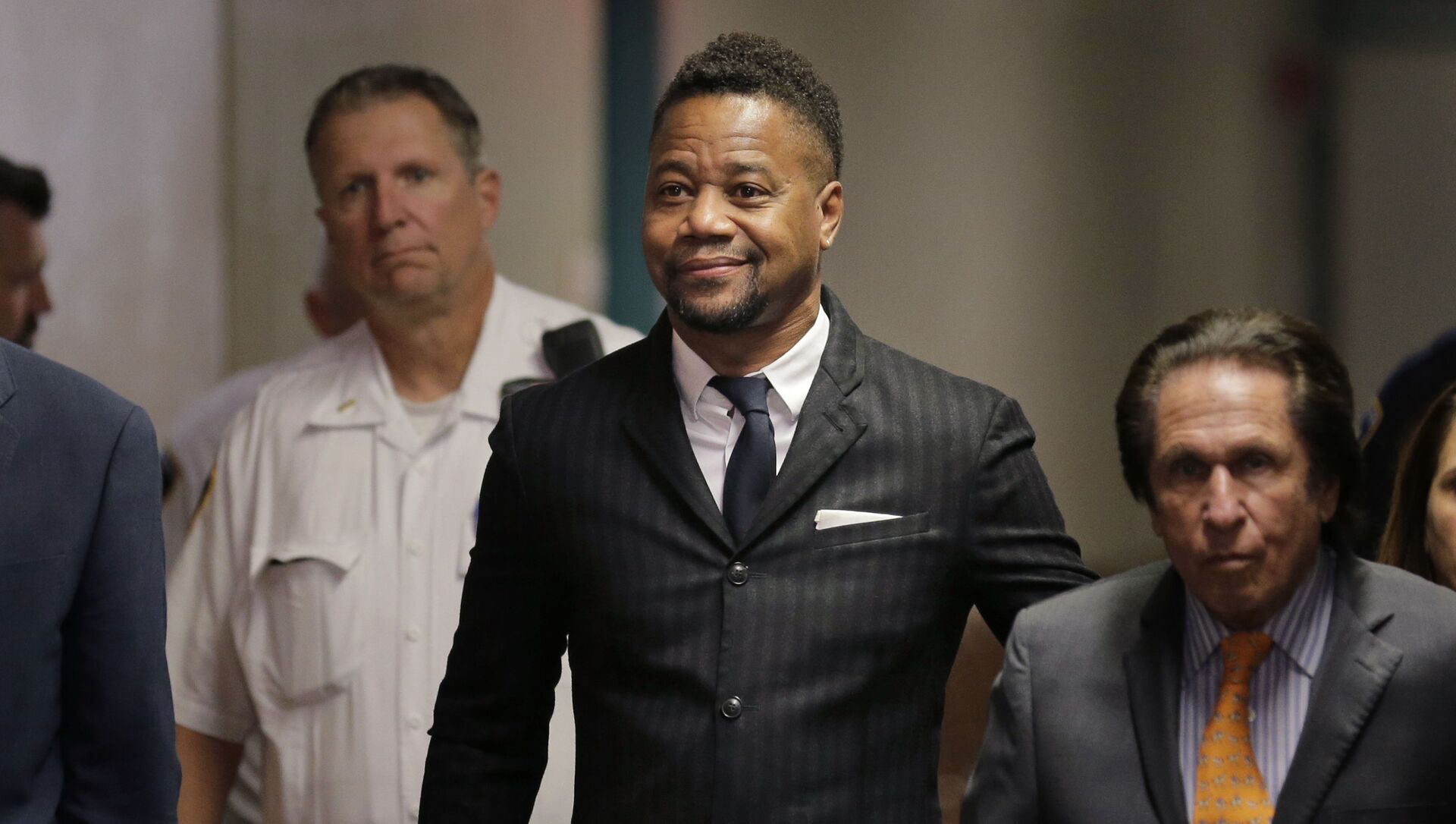 Cuba Gooding Jr. arrives to a courtroom in New York, Thursday, Oct. 10, 2019.   The actor is accused of placing his hand on a 29-year-old woman's breast and squeezing it without her consent in New York on June 9.  - Sputnik International, 1920, 31.07.2021
