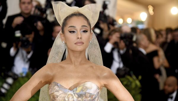 Ariana Grande attends The Metropolitan Museum of Art's Costume Institute benefit gala celebrating the opening of the Heavenly Bodies: Fashion and the Catholic Imagination exhibition on Monday, May 7, 2018, in New York.  - Sputnik International