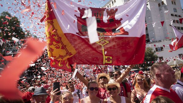 People gather during National Day celebrations in the British territory of Gibraltar on Tuesday Sept. 10, 2019. Gibraltar is still waiting to see how Britain's future departure from the European Union could affect Gibraltar. In the 2016 Brexit referendum vote, 96 percent of Gibraltarians voted for Britain to remain in the EU - Sputnik International