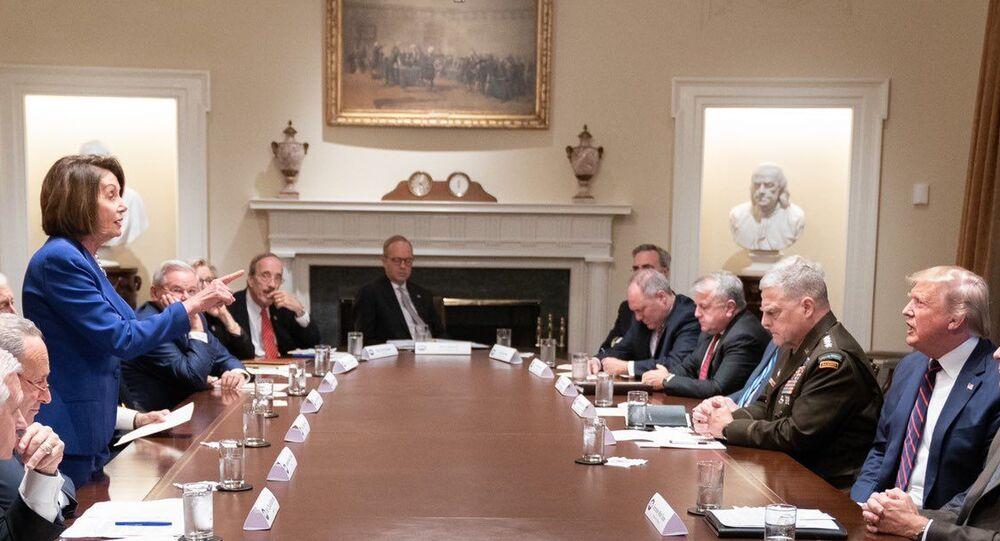Pelosi, Trump, White House meeting on Syria (10/16/19)