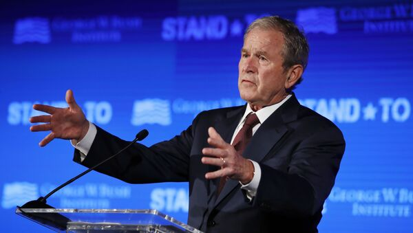 Former President George W. Bush speaks Friday, June 23, 2017, during Stand-To, a summit held by the George W. Bush Institute focused on veteran transition, in Washington - Sputnik International