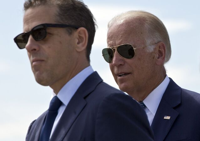 U.S. Vice President Joe Biden and his son Hunter Biden (File)
