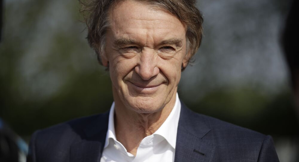 Britain's richest person Jim Ratcliffe, the founder of the INEOS Chemicals company, is interviewed by The Associated Press at the Iffley Road Track, where in 1954 British athlete Roger Bannister ran to become the first person ever to break the four minute mile barrier in Oxford, England, Tuesday, April 30, 2019