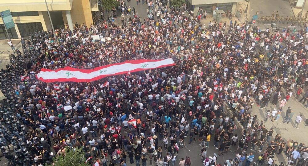 Protest over deteriorating economic situation, in Dora, Lebanon