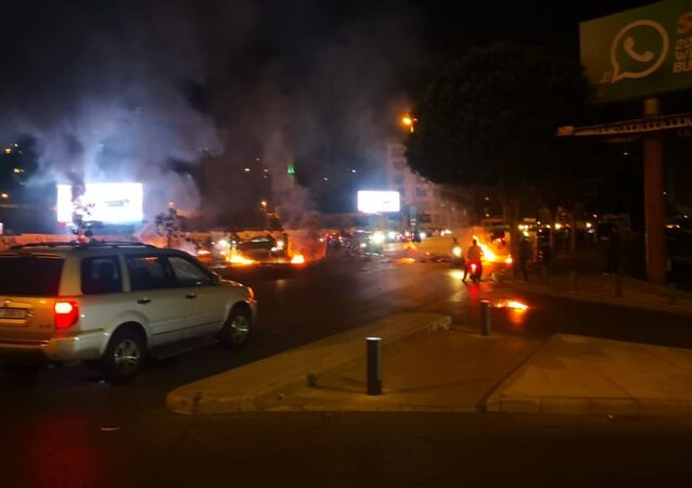 Protest over deteriorating economic situation, in Dora, Lebanon