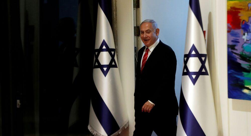 Israeli Prime Minister Benjamin Netanyahu arrives to a nomination ceremony at the President's residency in Jerusalem September 25, 2019