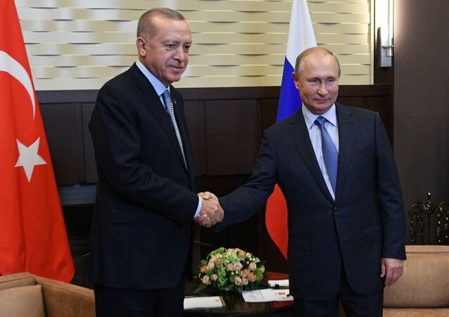 Russian President V. Putin Meets with Turkish President R. T. Erdogan