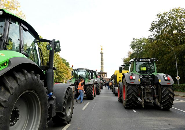 Farmers protest against the German agriculture policy in Berlin, Germany, October 22, 2019