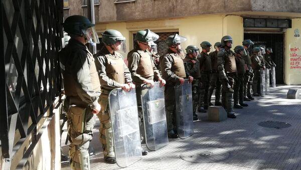 Riot Police in Chile - Sputnik International